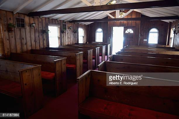 A general view of the atmosphere at Little Brown Church in the Valley where Ronald Reagan married Nancy Wilson on May 4 1952 on March 7 2016 in...