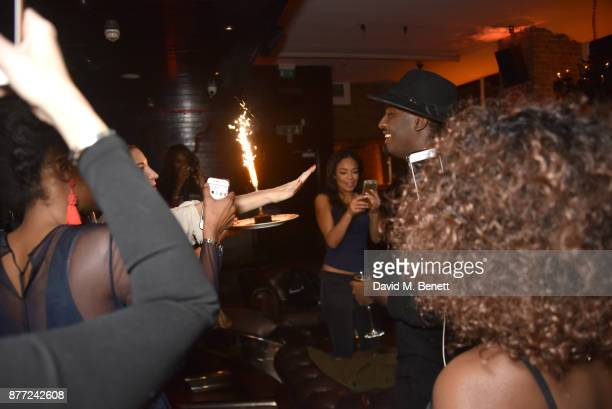 A general view of the atmosphere at Mason Smillie's birthday party at McQueen on November 21 2017 in London England