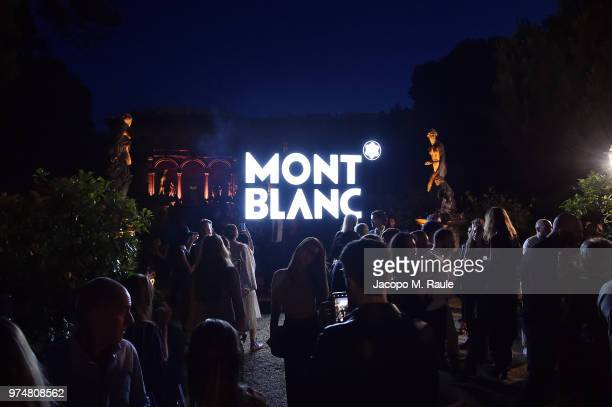 A general view of the atmosphere at Montblanc cocktail party during the 94th Pitti Immagine Uomo on June 14 2018 in Florence Italy