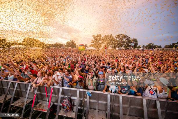 A general view of the atmosphere at Moon Taxi's performance at the Bonnaroo Music Arts Festival on June 10 2018 in Manchester Tennessee