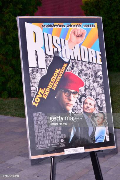 A general view of the atmosphere at 'Oscars Outdoors' summer screening series of 'Rushmore' at Oscars Outdoors on August 17 2013 in Hollywood...