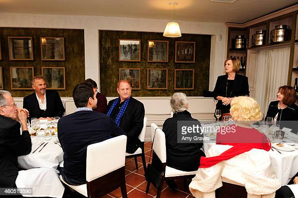 A general view of the atmosphere at special luncheon for Kevin Costner and Mike Binder hosted by Colleen Camp for the film BLACK OR WHITE at Fig...