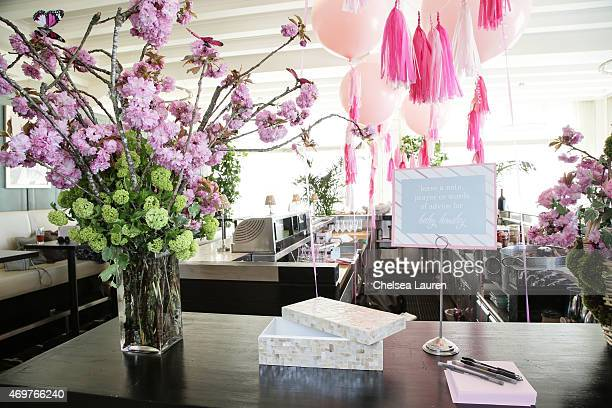 A general view of the atmosphere at Tamera MowryHousley's baby shower at Casa Del Mar on April 4 2015 in Santa Monica California