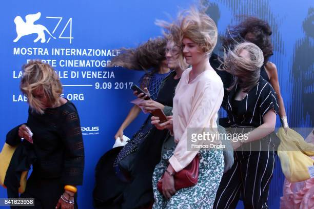 A general view of the atmosphere at The 1st Franca Sozzani Award during the 74th Venice Film Festival at Sala Giardino on September 1 2017 in Venice...