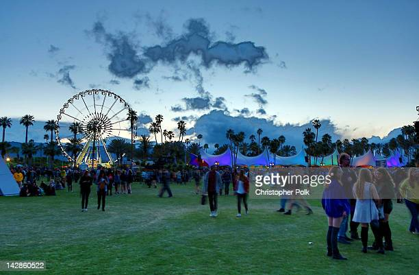 General view of the atmosphere at the 2012 Coachella Valley Music Arts Festival held at The Empire Polo Field on April 13 2012 in Indio California