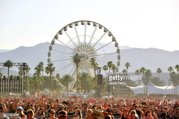A general view of the atmosphere at the 2013 Stagecoach Country Music Festival at The Empire Polo Club on April 28 2013 in Indio California