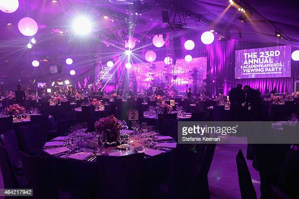 A general view of the atmosphere at the 23rd Annual Elton John AIDS Foundation Academy Awards viewing party with Chopard on February 22 2015 in Los...