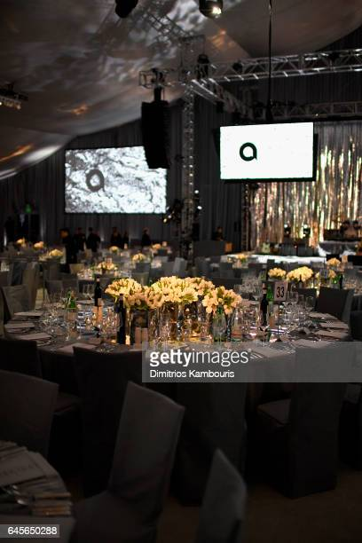 A general view of the atmosphere at the 25th Annual Elton John AIDS Foundation's Academy Awards Viewing Party at The City of West Hollywood Park on...
