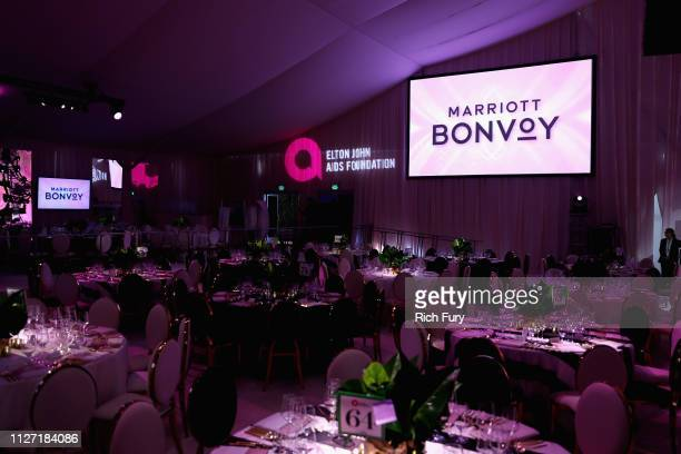 A general view of the atmosphere at the 27th annual Elton John AIDS Foundation Academy Awards Viewing Party sponsored by IMDb and Neuro Drinks...