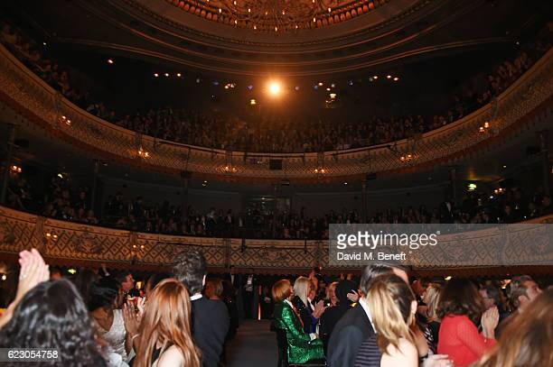 General view of the atmosphere at the 62nd London Evening Standard Theatre Awards, recognising excellence from across the world of theatre and...