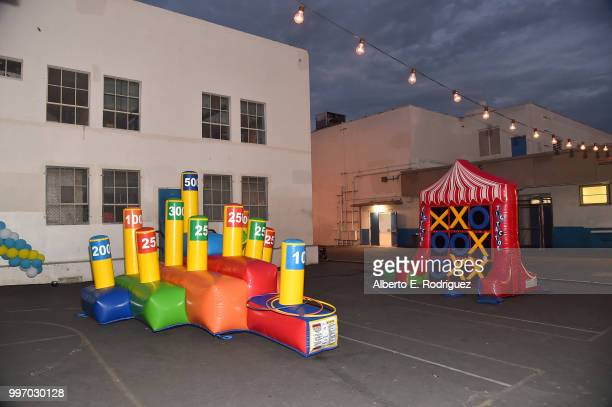 A general view of the atmosphere at the after party for a screening of A24's 'Eigth Grade' at Le Conte Middle School on July 11 2018 in Los Angeles...