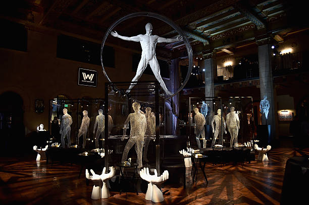General view of the atmosphere at the after party for the premiere of HBO's 'Westworld' at TCL Chinese Theatre on September 28, 2016 in Hollywood,...