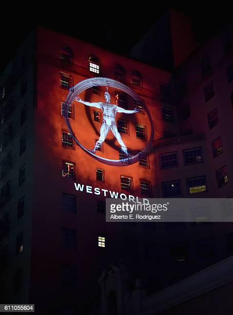 A general view of the atmosphere at the after party for the premiere of HBO's 'Westworld' at TCL Chinese Theatre on September 28 2016 in Hollywood...