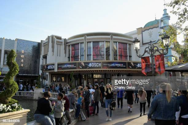 A general view of the atmosphere at the Amazon Original Series Bosch special advance screening for local law enforcement at The Grove on April 12...
