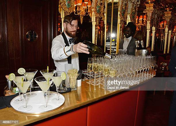 A general view of the atmosphere at the BFC/Vogue Fashion Fund winner's announcement at the Cafe Royal on January 28 2014 in London England