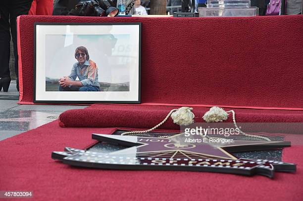 A general view of the atmosphere at the ceremony posthumosly honoring John Denver with the 2531st star on the Hollywood Walk of Fame on October 24...