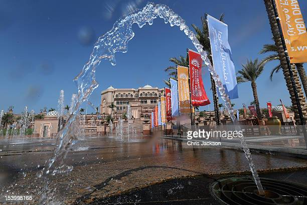 A general view of the atmosphere at the Emirates Palace Hotel during Abu Dhabi Film Festival 2012 at Emirates Palace on October 12 2012 in Abu Dhabi...