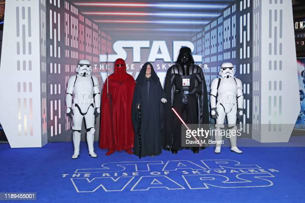 A general view of the atmosphere at the European Premiere of Star Wars The Rise of Skywalker at Cineworld Leicester Square on December 18 2019 in...