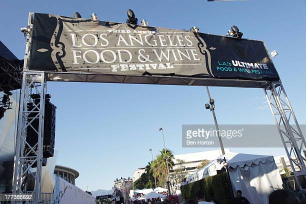 A general view of the atmosphere at the Festa Italiana with Giada de Laurentiis opening night celebration of the third annual Los Angeles Food Wine...