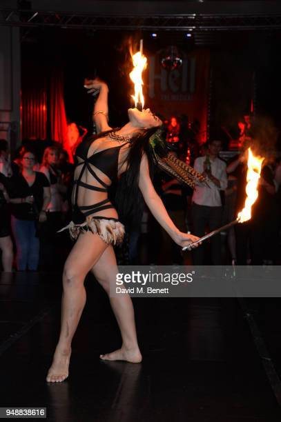 A general view of the atmosphere at the Gala Night after party for 'Bat Out Of Hell The Musical' at the Bloomsbury Ballroom on April 19 2018 in...