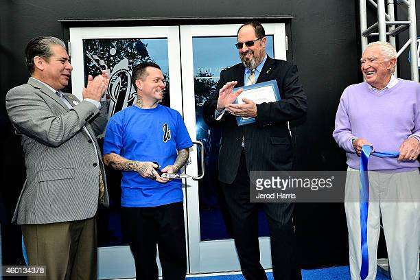 A general view of the atmosphere at the Grand Opening of West Coast Customs Burbank Headquarters on December 7 2014 in Burbank California