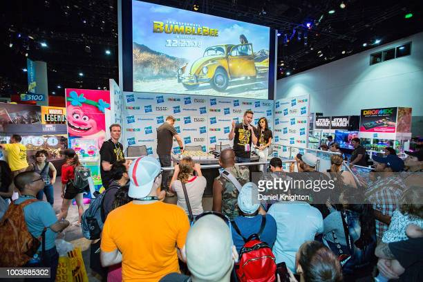 General view of the atmosphere at the Hasbro Toy booth at ComicCon International on July 21 2018 in San Diego California