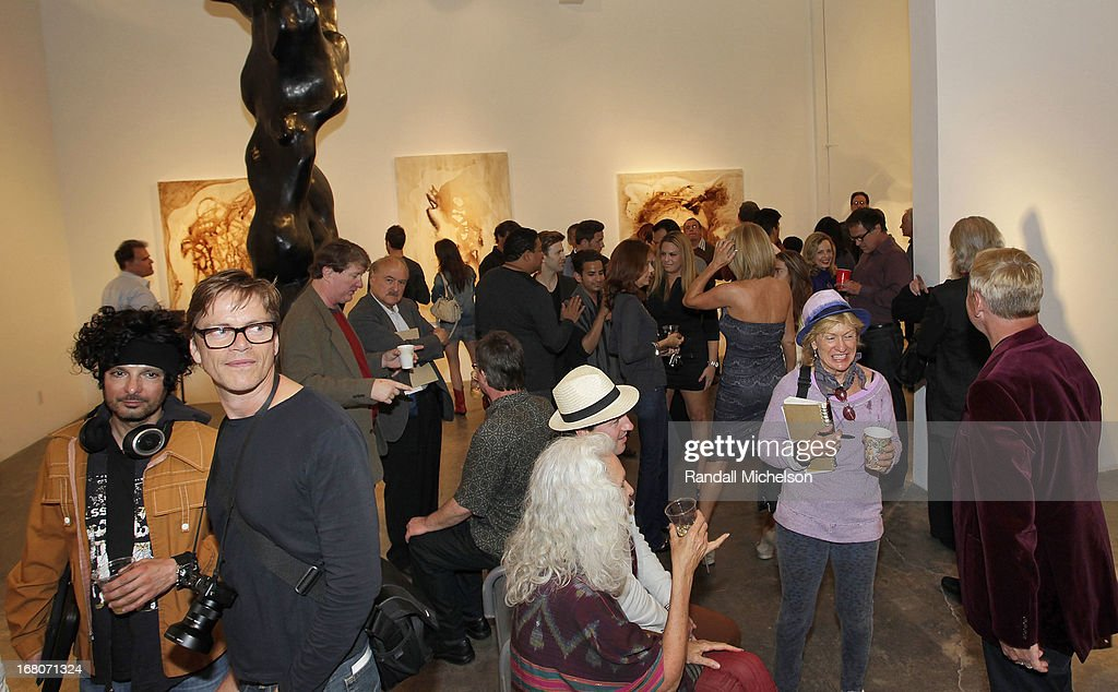 General view of the atmosphere at the Herb Alpert Exhibition of Paintings and Sculpture at Bergamot Station on May 4, 2013 in Santa Monica, California.