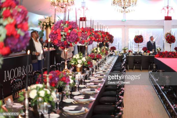 A general view of the atmosphere at the Jacob Co Cannes 2018 party at Nikki Beach on May 16 2018 in Cannes France