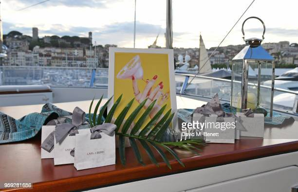 A general view of the atmosphere at the Lark and Berry launch party on a private yacht during the 71st Cannes Film Festival on May 16 2018 in Cannes...