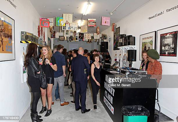 A general view of the atmosphere at the launch of 'Black Market Clash' an exhibition of personal memorabilia and items curated by original members of...