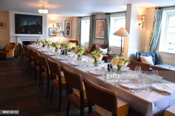 A general view of the atmosphere at the launch of Bumble's #bodyconfidante campaign at Soho House on June 7 2018 in London England