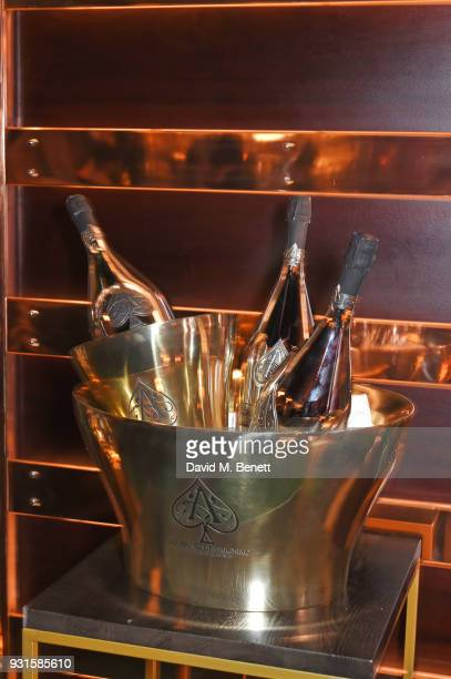 A general view of the atmosphere at the launch of Champagne Armand de Brignac Blanc de Blancs en Magnum at Casa Cruz on March 13 2018 in London...
