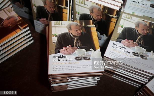 A general view of the atmosphere at the launch of Geordie Greig's new book Breakfast With Lucian on October 3 2013 in London England