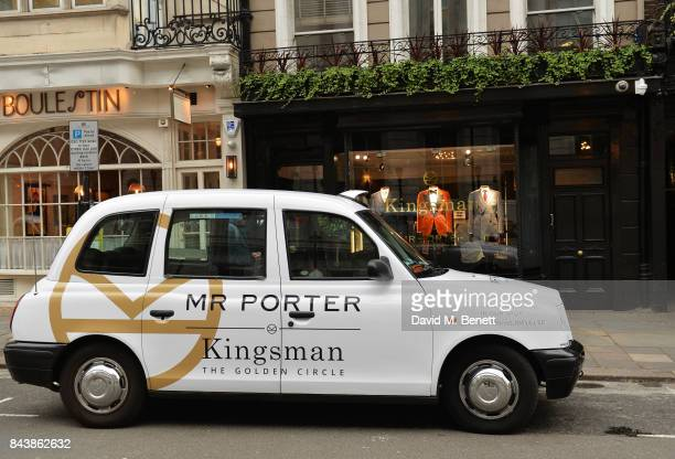 A general view of the atmosphere at the launch of the 'Kingsman' shop on St James's Street in partnership with MR PORTER MARV Twentieth Century Fox...