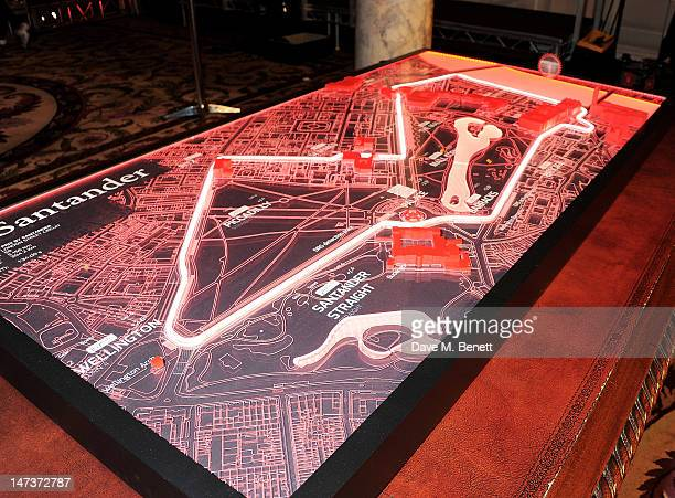 A general view of the atmosphere at the launch of the London Grand Prix by Santander at the Royal Automobile Club on June 28 2012 in London England