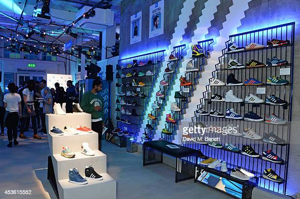 ce7d8e6e1a38 A general view of the atmosphere at the launch of the new adidas Originals  London Flagship