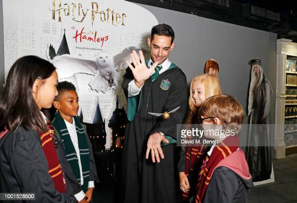 A general view of the atmosphere at the launch of The Wizarding World of Harry Potter at Hamleys on July 19 2018 in London England