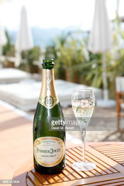General view of the atmosphere at the Leave No Trace party presented by Perrier-Jouet at Nikki Beach on May 13, 2018 in Cannes, France.
