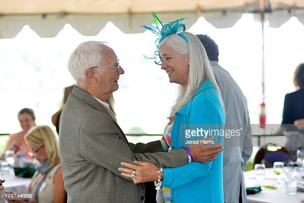 A general view of the atmosphere at the Lung Cancer Foundation of America's 'Day At The Races' at Del Mar Race Track on July 28 2013 in Del Mar...