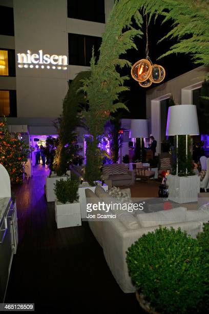 A general view of the atmosphere at the Nielsen PreGRAMMY Party at Mondrian Los Angeles on January 25 2014 in West Hollywood California