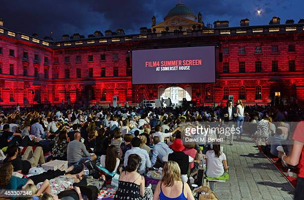 A general view of the atmosphere at the Opening Night of the Film4 Summer Screen at Somerset House featuring the UK Premiere of Two Days One Night on...