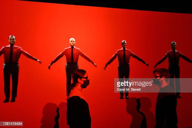 """General view of the atmosphere at the opening of new exhibition """"Electronic: From Kraftwerk to The Chemical Brothers"""" at The Design Museum on July..."""