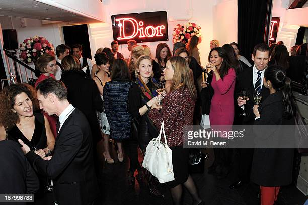 A general view of the atmosphere at the opening of the Dior Beauty Boutique in Covent Garden on November 14 2013 in London England