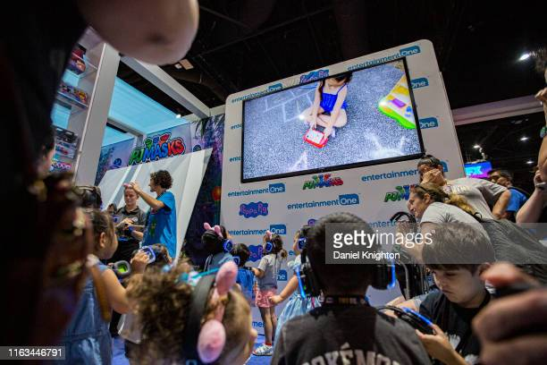 General view of the atmosphere at the Peppa Pig booth at 2019 Comic-Con International on July 21, 2019 in San Diego, California.