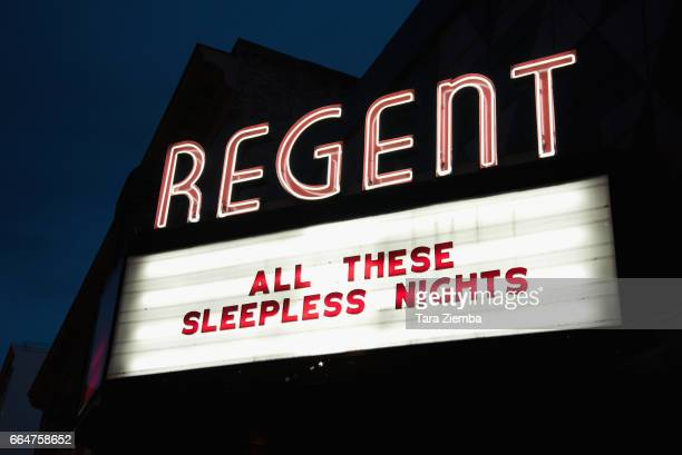General view of the atmosphere at the premiere of The Orchard's 'All These Sleepless Nights' at the Regent Theater on April 4 2017 in Los Angeles...