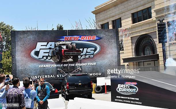 A general view of the atmosphere at the premiere press event for the new Universal Studios Hollywood Ride Fast FuriousSupercharged at Universal...