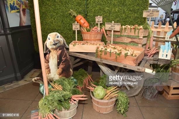 A general view of the atmosphere at the preparty for the premiere of Columbia Pictures' 'Peter Rabbit' at The Grove on February 3 2018 in Los Angeles...