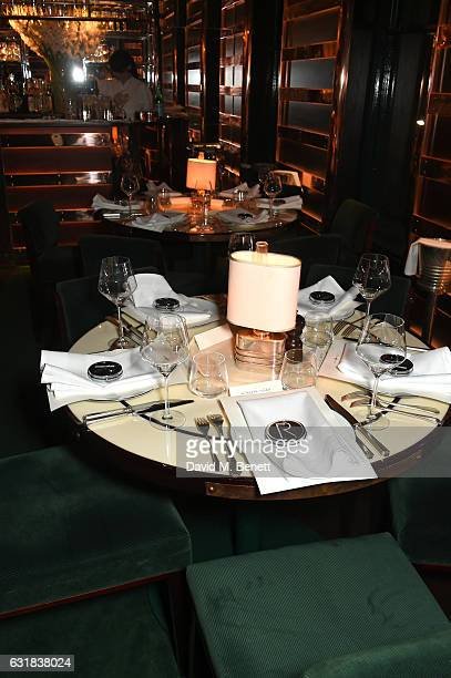 A general view of the atmosphere at the Rodial dinner hosted by Poppy Delevingne and Maria Hatzistefanis at Casa Cruz on January 16 2017 in London...