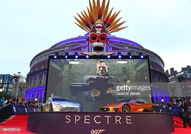 A general view of the atmosphere at the Royal World Premiere of 'Spectre' at Royal Albert Hall on October 26 2015 in London England