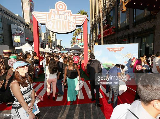 "A general view of the atmosphere at the Target Landing Zone at the World Premiere of ""Disney's Planes"" at the El Capitan Theatre on Aug 5 in..."